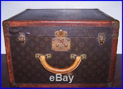 Louis Vuitton Antique Hat/Shoe Box Steamer Trunk/ Vintage Louie Vuitton