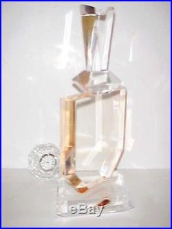 Lucite Huge Sculpture Signed Jere Era Hollywood Regency Perfume Bottle Rose