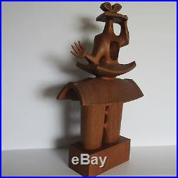 MID Century Sculpture Abstract Expressionism Cubism Modernism Vintage Hat Woman