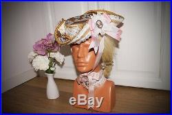 Marie Antoinette Vintage Inspired Tricorn Fantasy Costume Handmade Cosplay Hat