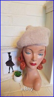 Mixed Lot of 10 Vintage Mod Women s Fashion Winter Wool Fur KANGOL BETMAR  Hats 240af87ace9