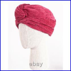NEW $650 GUCCI Pink Fuchsia Velvet HOLLYWOOD VINTAGE Turban Knot HEADBAND HAT