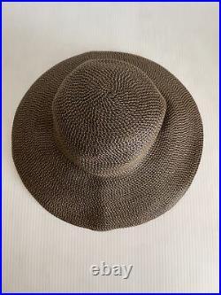 NEW Eric Javits'Hampton' Straw Sun Hat Antique