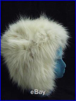 Neiman MarcusVtg 50-60s Ivory Fox Fur Winter Hat, Nice