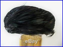 Nine (9) Womens Vintage Feathered Hats Joseph Magnin, Bowmans, Etc