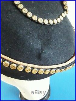 Original 1930/40s WWII Black Felt Hat Chinese Style Rare Warner Bros Label