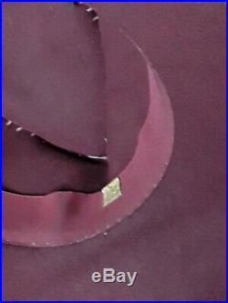 Original 1940s WWII era Felt Hat in Burgundy by Lady Biltmore Fur Felt