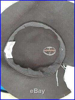 Original vintage late 1930s/early 1940s WWII era hat Designer G. Howard Hodge