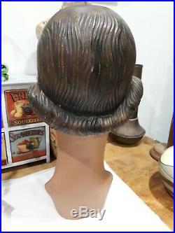 Outstanding Art Deco Mannequin Head 1920's 36cm