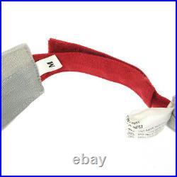 PRADA LUNA ROSSA Sun Visor Hat Silver LRH004 #M China Authentic Vintage 00230