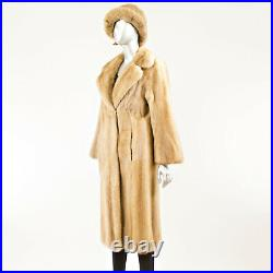Pastel Mink Coat with Hat Size S (Vintage Furs)