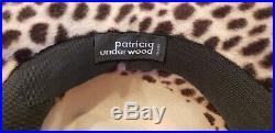 Patricia Underwood Cheetah Print Women's Felt Hat