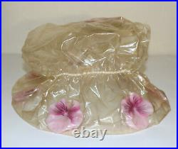 Plastic vinyl floral vintage avant-garde hat