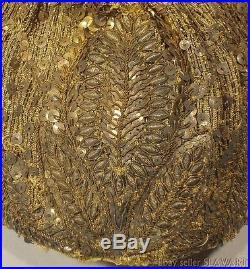 REMARKABLE antique Austrian headdress ethnic folk costume Linz Goldhaube Tracht