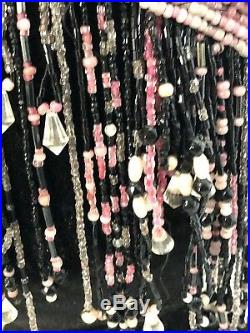 Rare Original Flapper All Over Beaded Cap withSurrounding Dangling Beads, Crystals