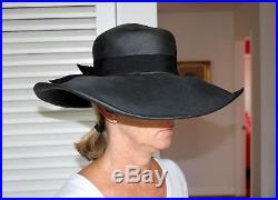 Rare Vintage 1950's-60's Adolfo Designer Wide Brim Hat
