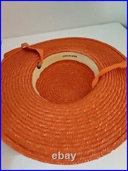 Rare Vintage 1950s Straw Hat Made In Italy Summer Tilt Top Novelty Saucer