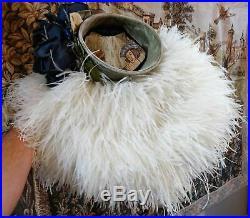 Rare Vintage Hat, 1940s Keneth Hopkins Hollywood Ostrich