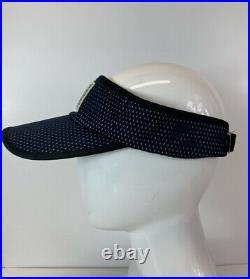Rare Vtg Chanel Navy CC Logo Visor Mesh Hat