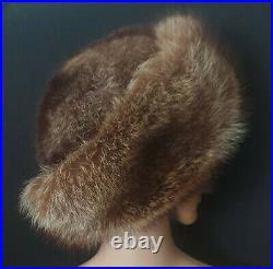 Real Silver Fox Fur Russian Style Hat from Finland Cossack, Full Fur