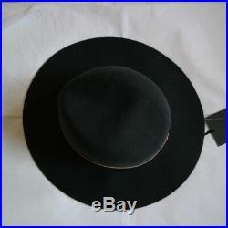 SALE! Janessa Leone Lambskin Leather Quartz Fedora Hat SZ L