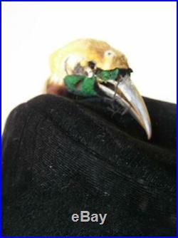 Saks Fifth Ave c. 1920's long bill bird taxidermy Flapper Cloche Hat Stunning