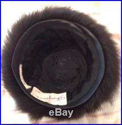 Schiaparelli Paris Vintage Fur Hat From Rose's Brockton, Mass