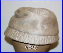 Schiaparelli Paris vintage fur felt hat distress
