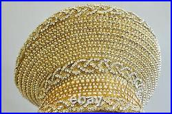 Shellie McDowell Millinery Gold Beaded Jeweled Gem Ladies Church Derby Crown Hat