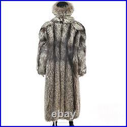 Silver Fox Coat with Matching Hat- Size XXXL-XXXXL