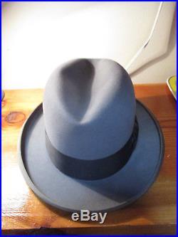 Stetson St. Regis royale de luxe G Fox   Co. Mens grey hat fedora 6227257bb191