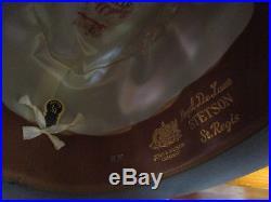 Stetson St. Regis royale de luxe G Fox & Co. Mens grey hat fedora 1/4
