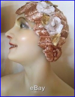 Stunning Original 1920s French Flapper Cloche Wig-Great Condition, Wearable