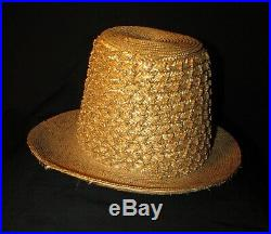 Tall Straw Victorian, 1890's Hat