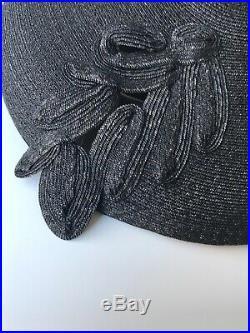 True Vintage 1940s 50s Hat Black New look Style