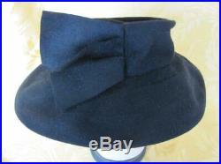 VINTAGE 1920s LADIES BLACK FELT HAT