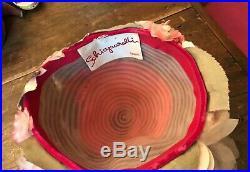 VINTAGE 1960s SCHIAPARELLI Pink Tulle Garden Flowers Hat Chapeaux
