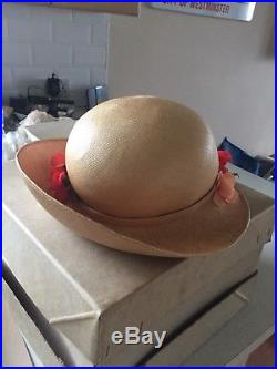VINTAGE 1970s LIBERTY LONDON Straw hats with flowers