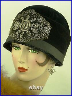 VINTAGE HAT 1920s CLOCHE HAT, ART DECO, ANTIQUE HAT, FRENCH