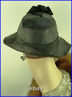 VINTAGE HAT 1930s FRENCH, SLOUCH