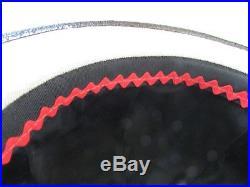 VTG 1960's Oleg Cassini Linen/Patent Mod Bubble Hat Twiggy /Carnaby MINT