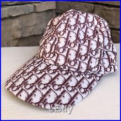 VTG DIOR Purple/Brown Adjustable Monogram Designer Baseball Cap Hat OS (FADED)