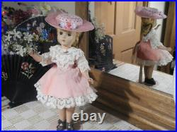 VTG Madame Alexander 14 Blonde Little Women Doll + RICHARD ORIGINAL Hat, Snood
