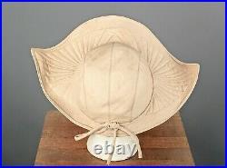 VTG Women's 30s 40s Wide Brim Ivory Dutch  Cap 1930s 1940s Hat