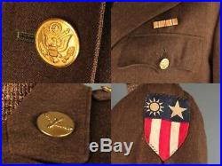 VTG Women's WWII WAAC Uniform Jacket, Shirt & Hat Set CBI Patch #2679 WW2 WAC