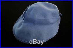 Very Rare Deadstock French 1930's Lavender Felt Hat With Tag Size 7-7 1/2