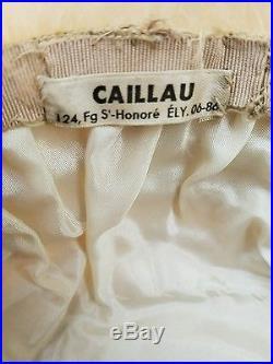 Vintage 1940's Masion Caillu Paris Ostrich Feather Hat/Original Box