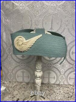 Vintage 1940's TWA AIRLINES Women's Flight Attendant Stewardess Cap Hat RARE