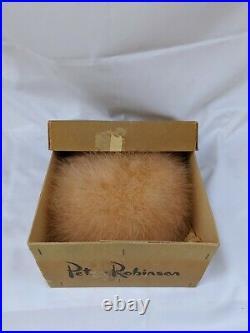 Vintage 1940s Masion Caillu Paris Ostrich Feather Hat/Original Box