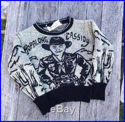 Vintage 1950s Hopalong Cassidy knit Sweater(RARE), All Wool